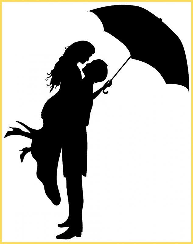 gambar kartun lucu silouet sepasang kekasih