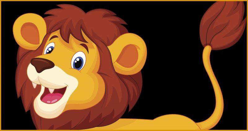 gambar kartun lucu singa ramah
