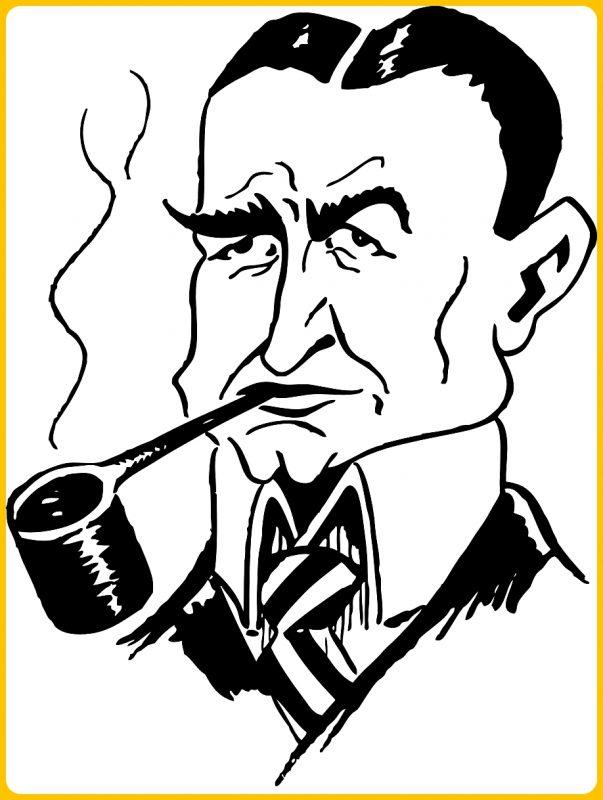 gambar kartun merokok dengan pipa