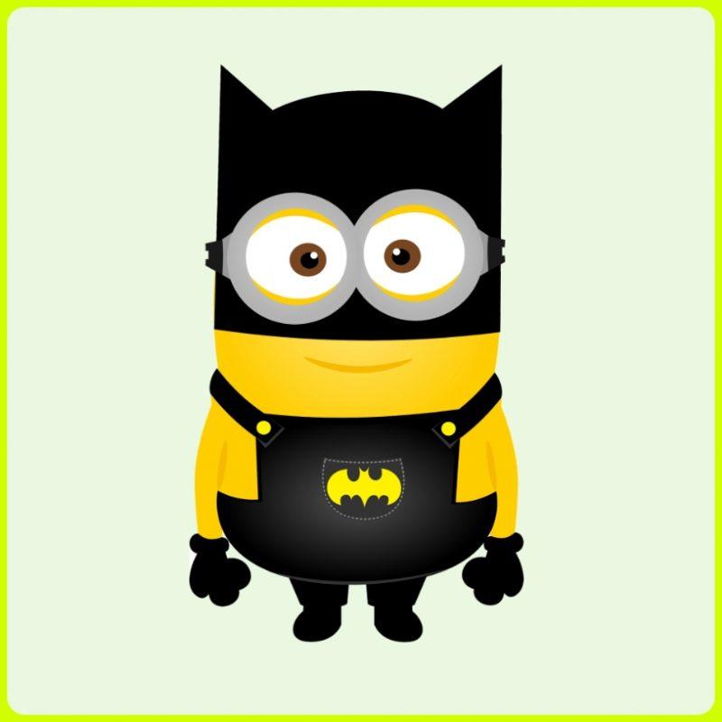 gambar kartun minion custom batman