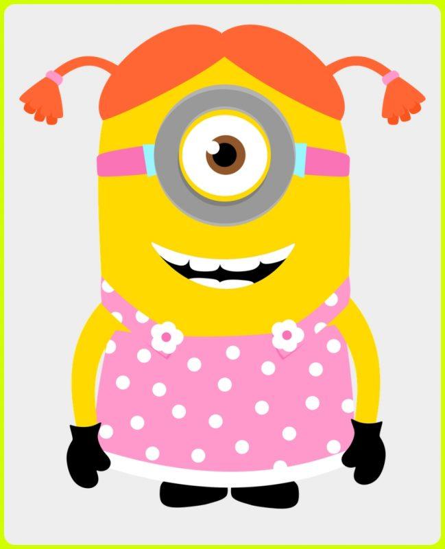 gambar kartun minion pink