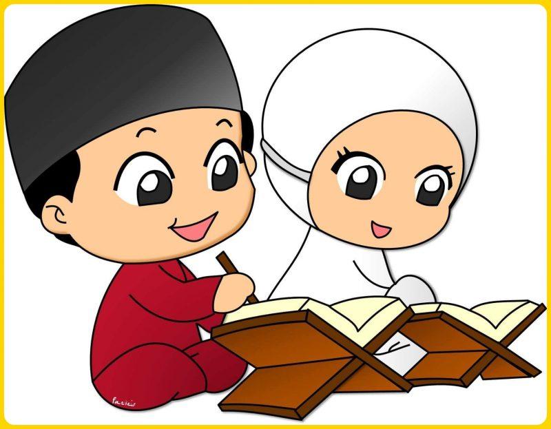 gambar kartun muslim anak