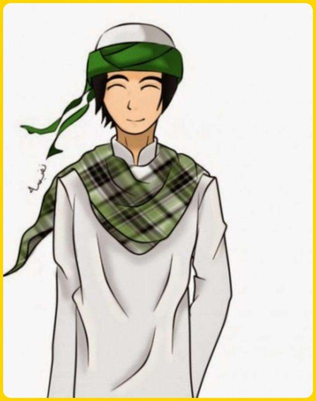 gambar kartun muslim laki laki