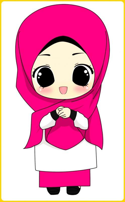 gambar kartun muslim lucu dan imut