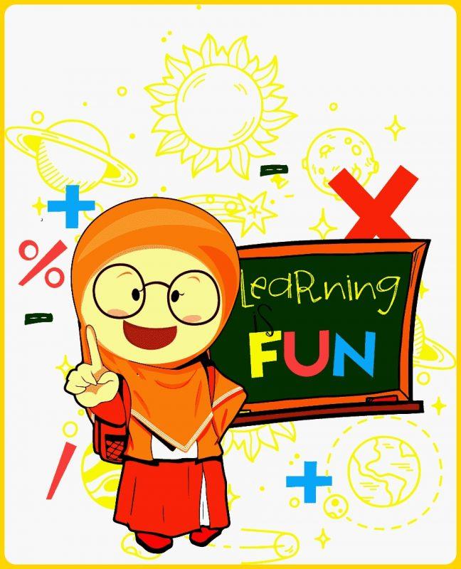 gambar kartun muslimah anak