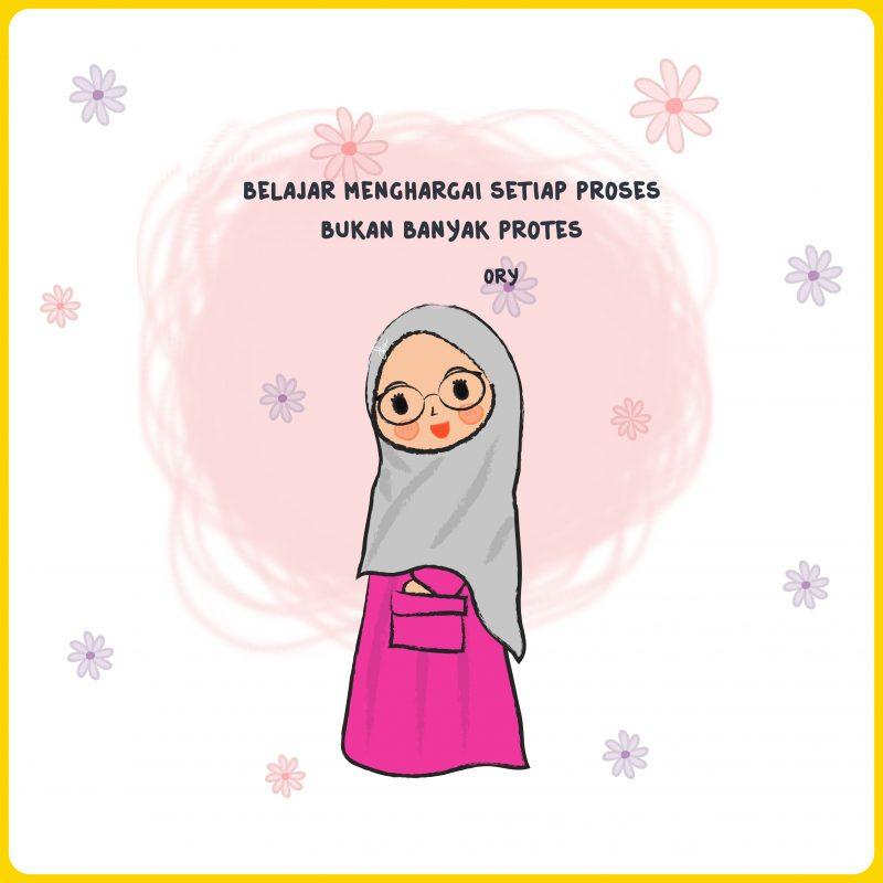 gambar kartun muslimah dan kata kata