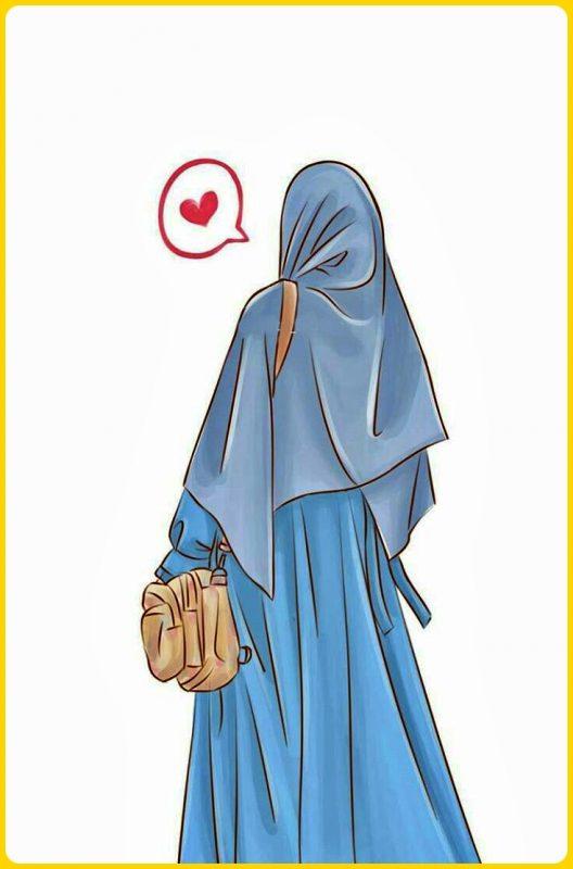 gambar kartun muslimah gaul