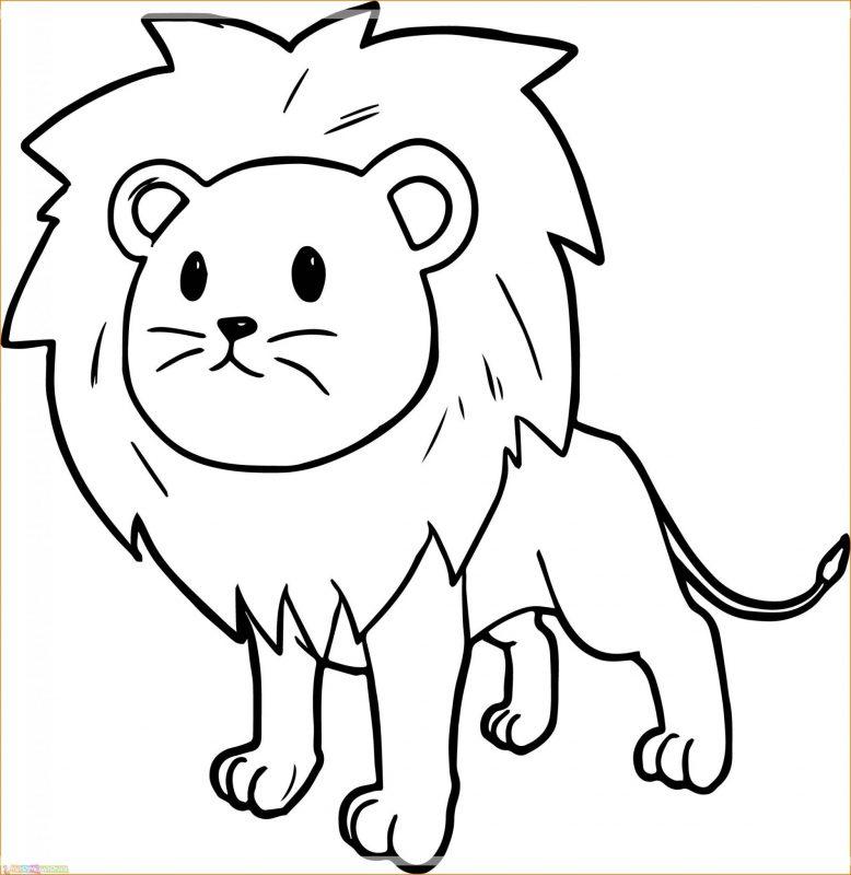 gambar kartun singa berdiri