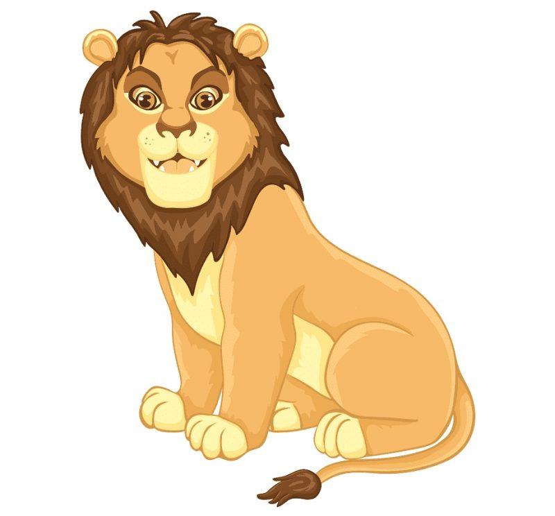 gambar kartun singa dewasa