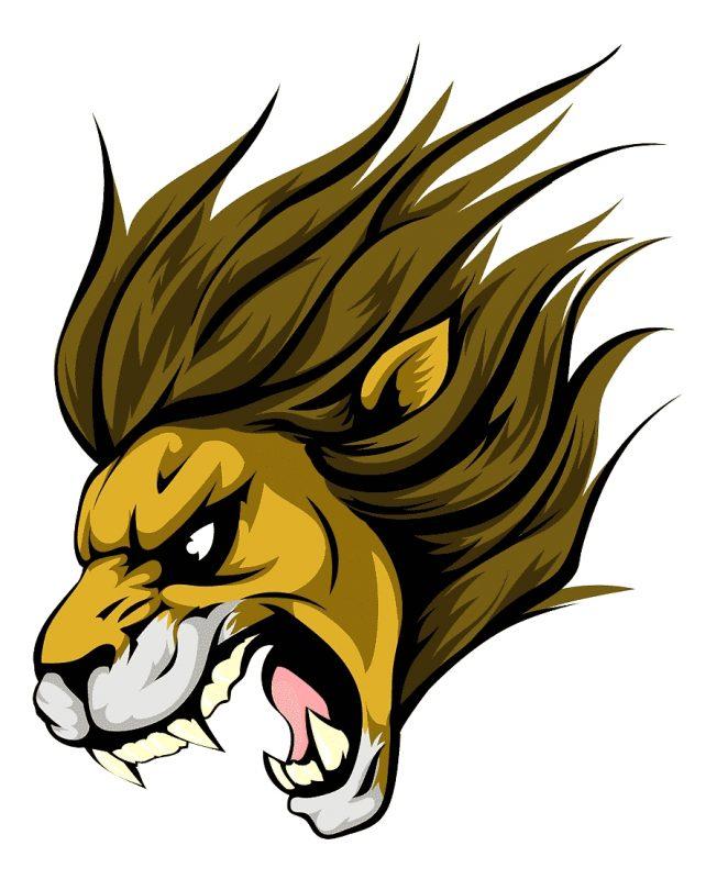 gambar kartun singa marah