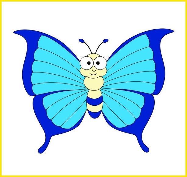gambar kupu kupu bermotif kartun Kupu-Kupu Sayap Bermotif Garis