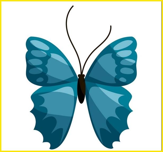 gambar kupu kupu kartun tubuh hitam