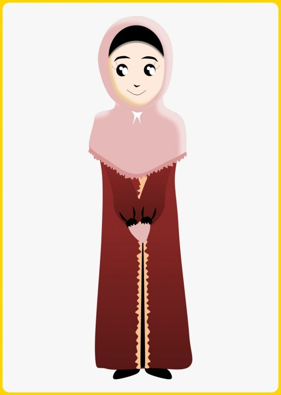 gambar muslimah melirikkan matanya