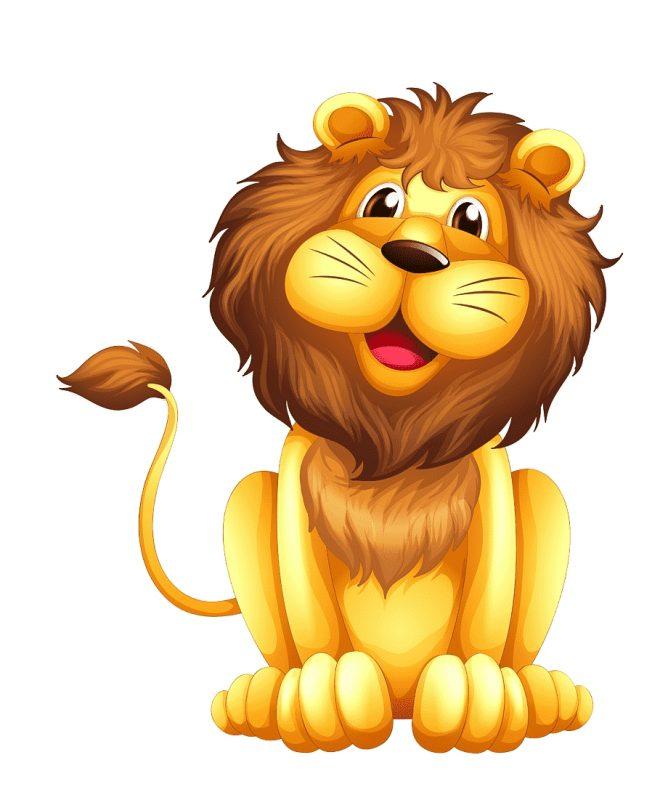 gambar singa kartun berwarna