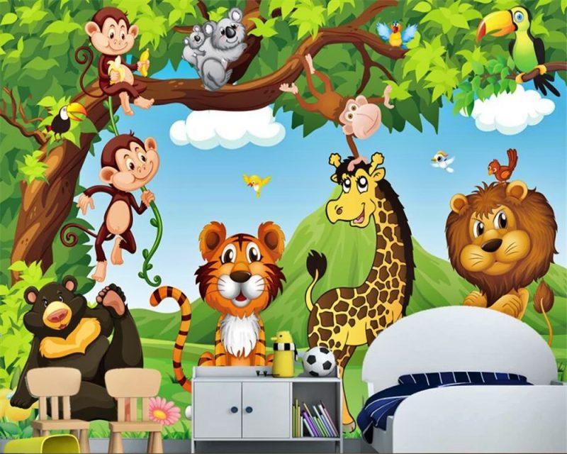 gambar singa kartun dan hewan buas lainnya