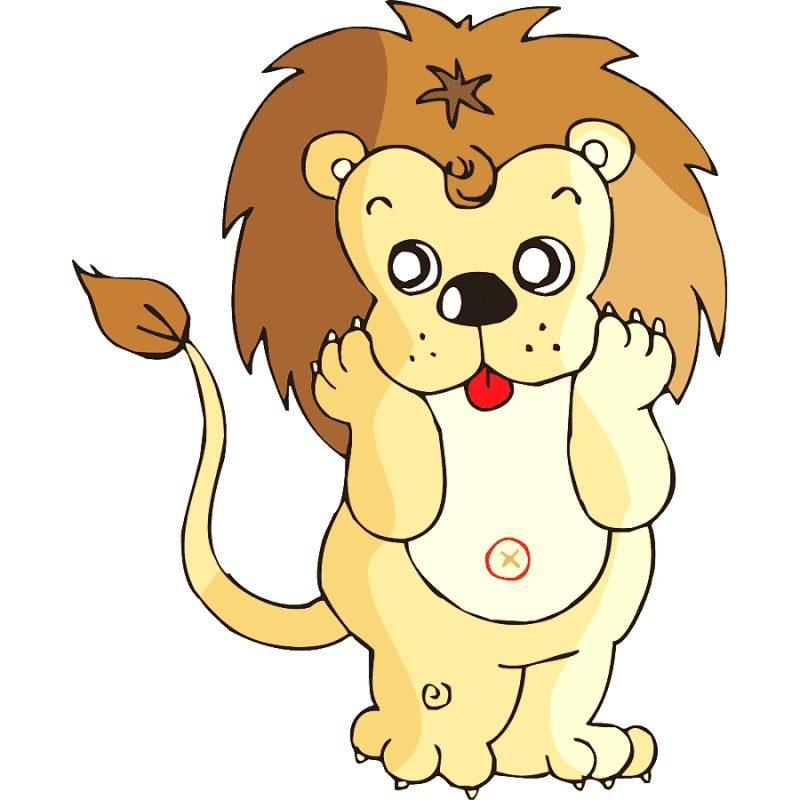 gambar singa kartun lucu
