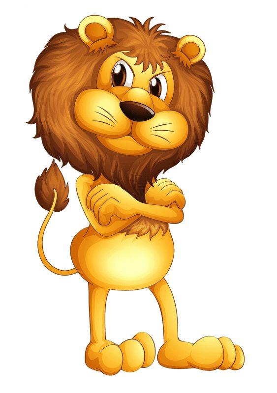 gambar singa kartun png