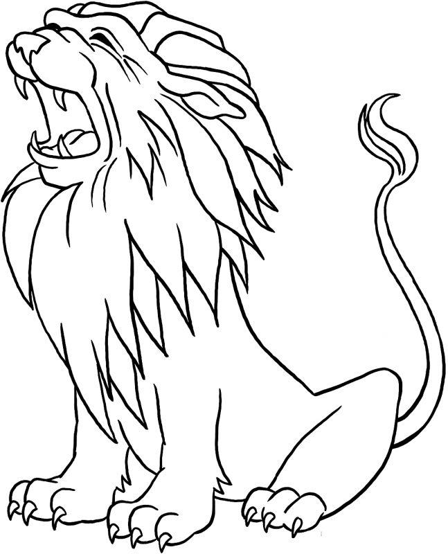 gambar singa mengaum