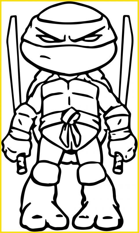 gambar sketsa kura kura ninja