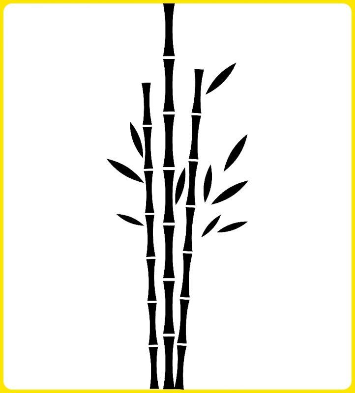gambar sketsa pohon bambu