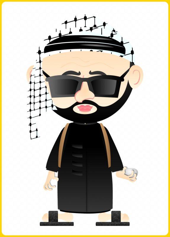kartun pria arab bersorban