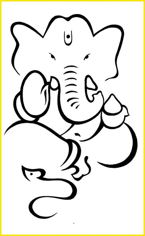 macam macam sketsa gajah2