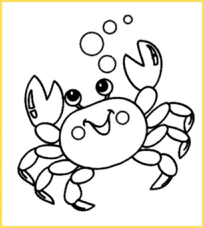 mewarnai gambar kartun lucu kepiting