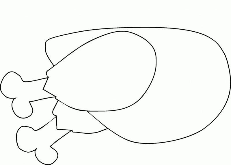 sketsa gambar ayam bakar