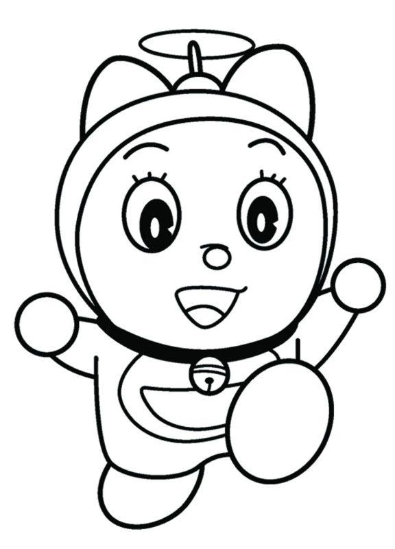 sketsa gambar kartun keren doremi