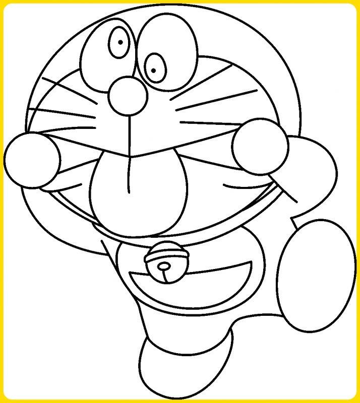 sketsa gambar kartun menjulurkan lidah