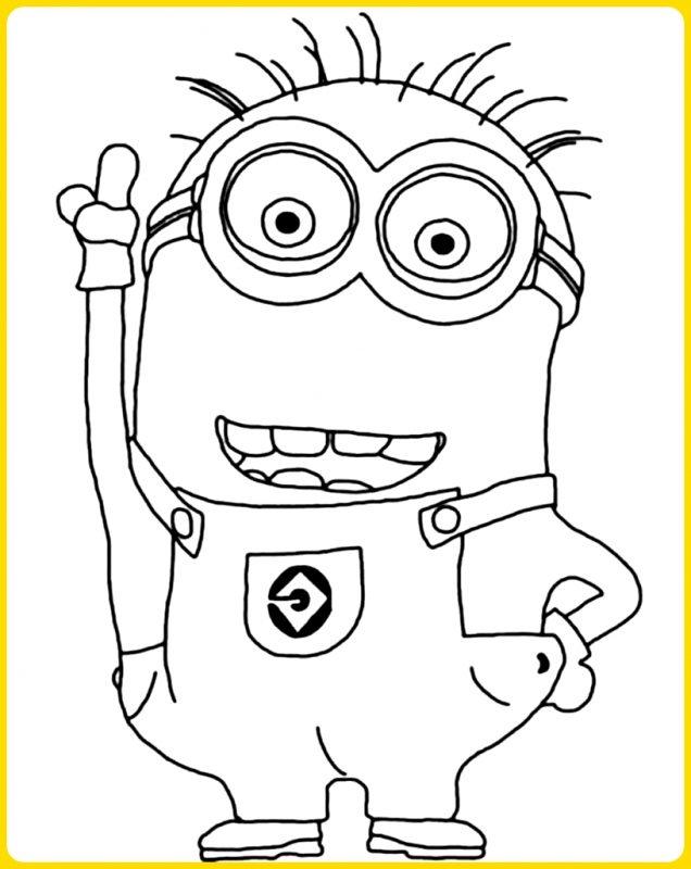 sketsa gambar kartun minion larry