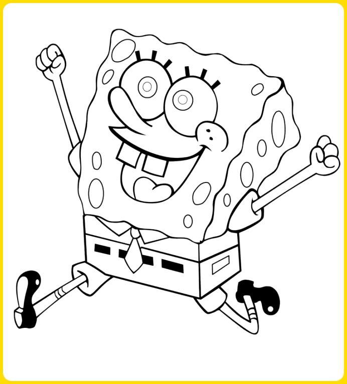 sketsa gambar kartun spongbob