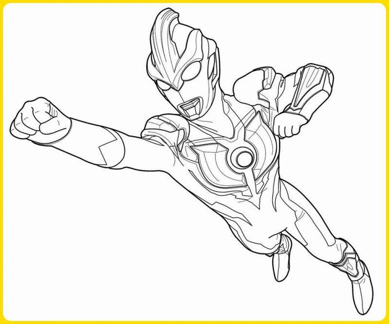 sketsa gambar kartun ultraman