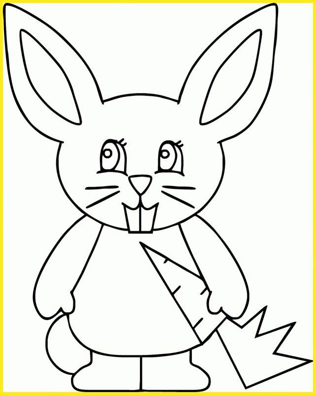 sketsa gambar kelinci berdiri kartun