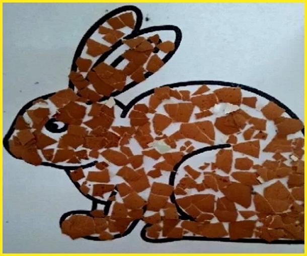 sketsa gambar kelinci untuk kolase