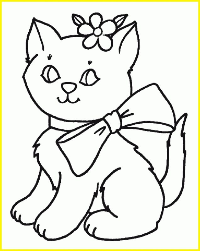 sketsa gambar kucing duduk