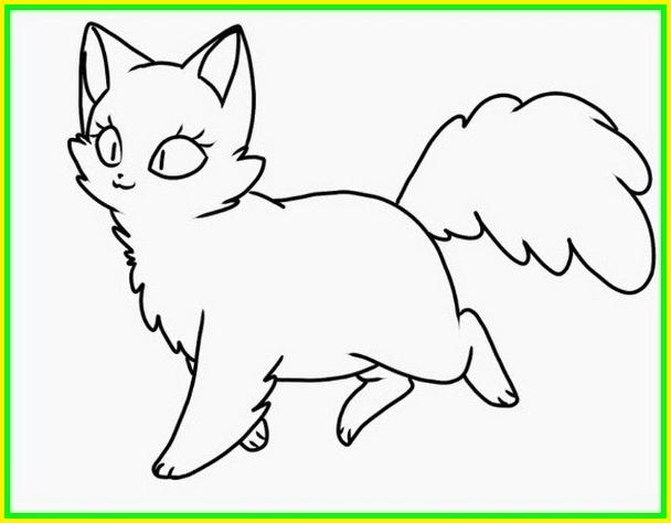 sketsa gambar kucing hitam putih berlari