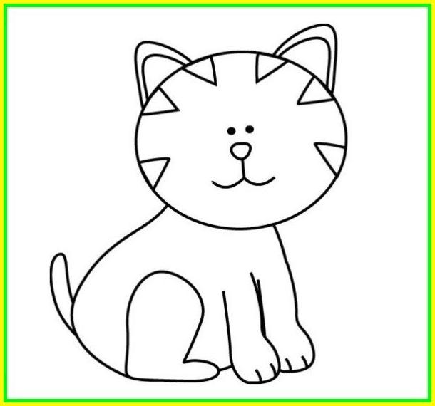 sketsa gambar kucing lucu dan imut