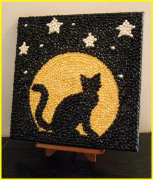 sketsa gambar kucing untuk kolase berwarna hitam