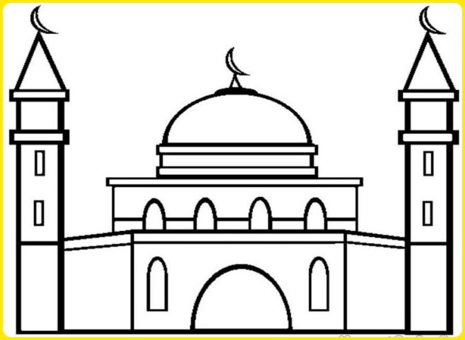 sketsa gambar masjid al aqso