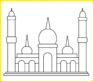 +2002 sketsa gambar masjid: lengkap paling mudah digambar