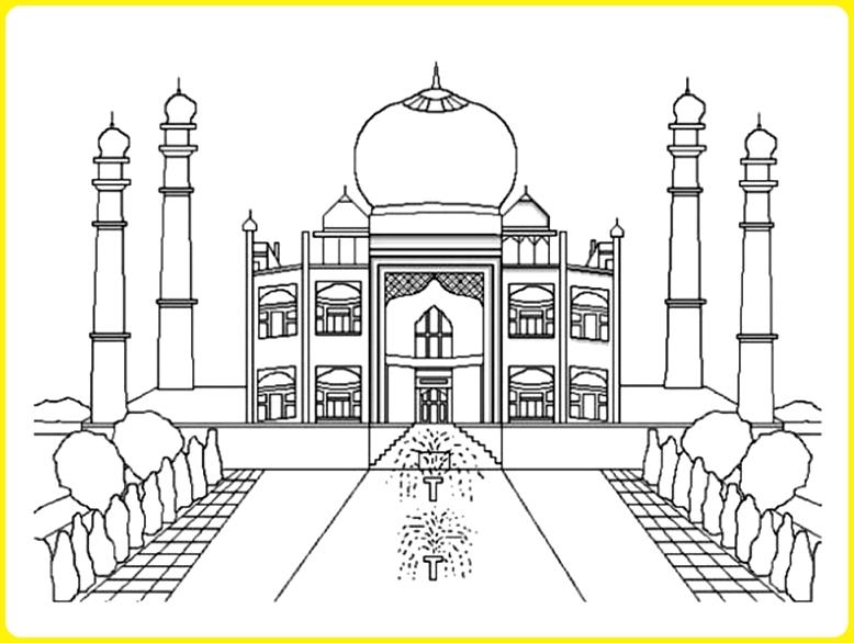 sketsa gambar masjid nabawi yang megah