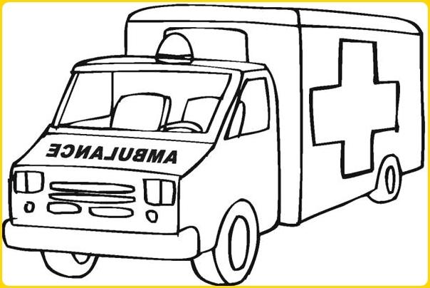 sketsa gambar mobil ambulance mirip mobil box