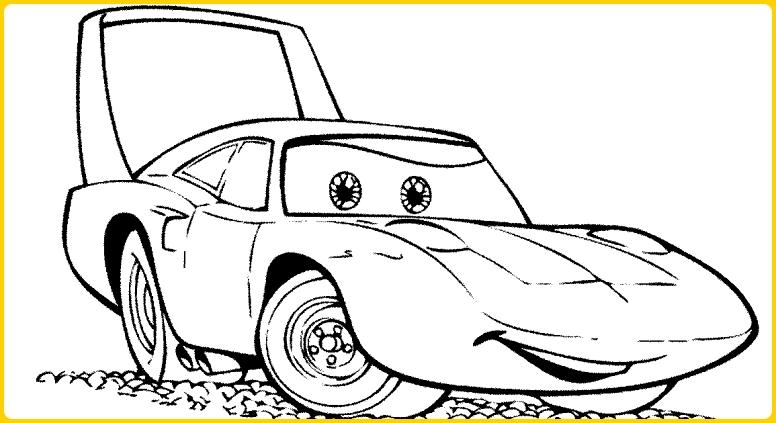 sketsa gambar mobil balap antik