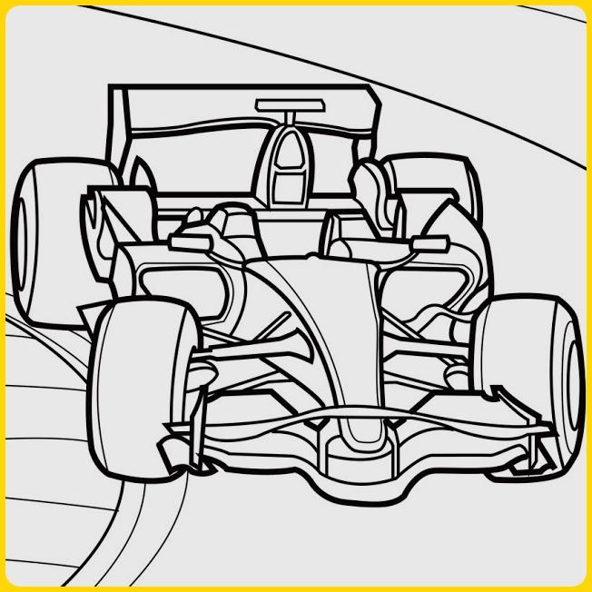 sketsa gambar mobil f1
