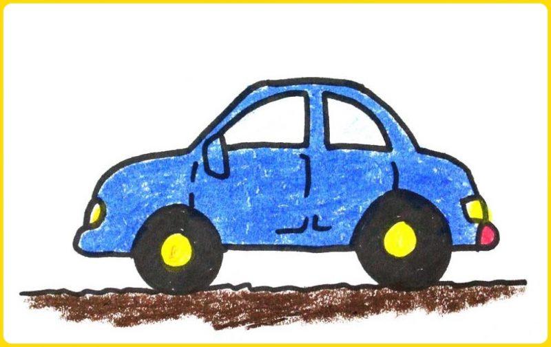 sketsa gambar mobil mobilan berwarna