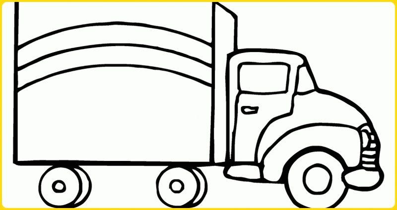 sketsa gambar mobil mobilan truk bok
