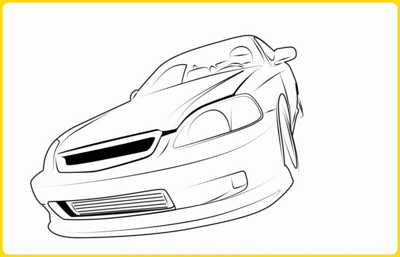 sketsa gambar mobil sedan dari sisi depan