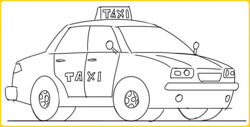 sketsa gambar mobil sederhana mudah