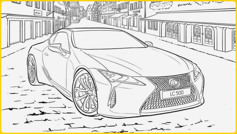 sketsa gambar mobil sport lexus